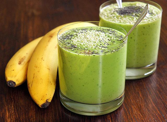 смузи рецепты киви банан клубника молоко