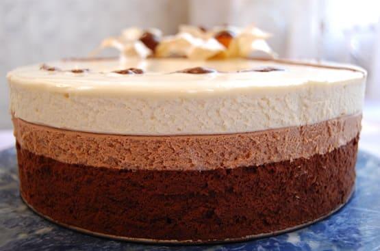 торт три шоколада рецепты с фото