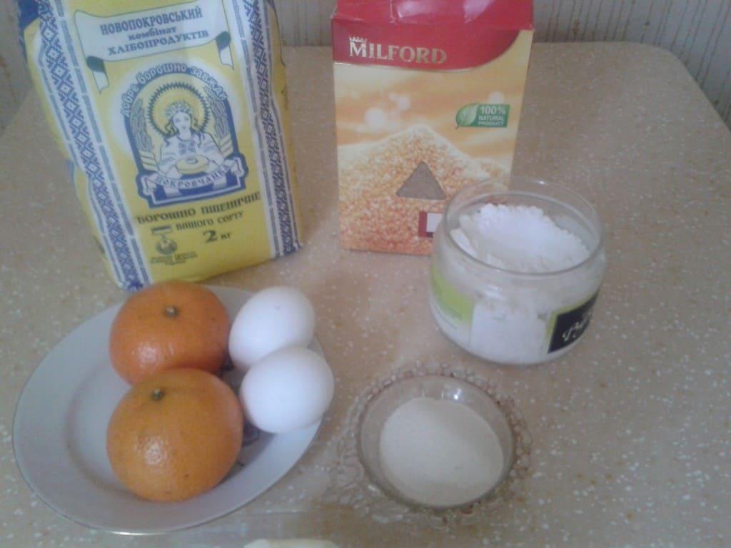 Ингредиенты для кексов с мандаринами