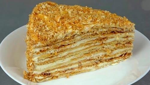 Заварной крем для торта Медовик