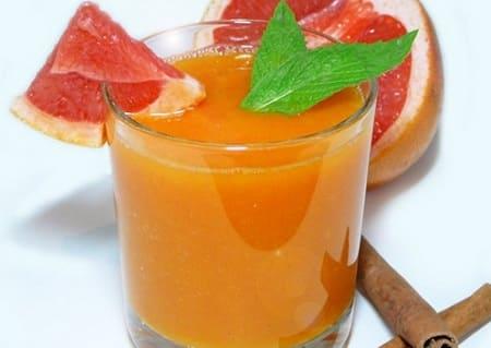 Рецепт пряного смузи из тыквы и грейпфрута