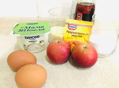 Творожные кексы с яблоком - рецепт с фото