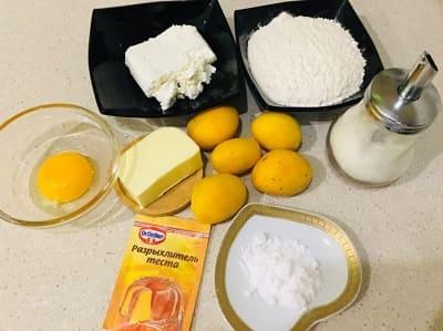 Рецепт творожной галеты с абрикосами