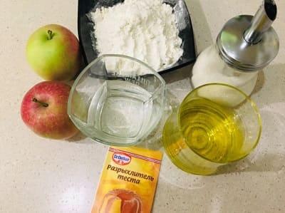 Рецепт постной галеты с яблоком