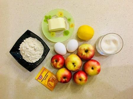 Польский яблочный пирог - рецепт приготовления