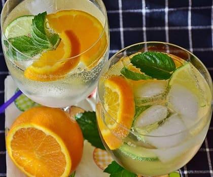Домашний лимонад с лимоном, апельсином и мятой