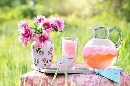 Приготовление лимонада с цветами