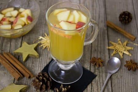 Яблочно-клюквенный компот с мятой и мандаринами