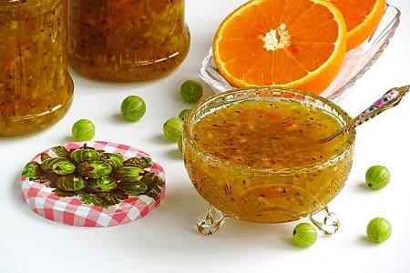 Варенье из крыжовника с апельсином на зиму — 8 рецептов